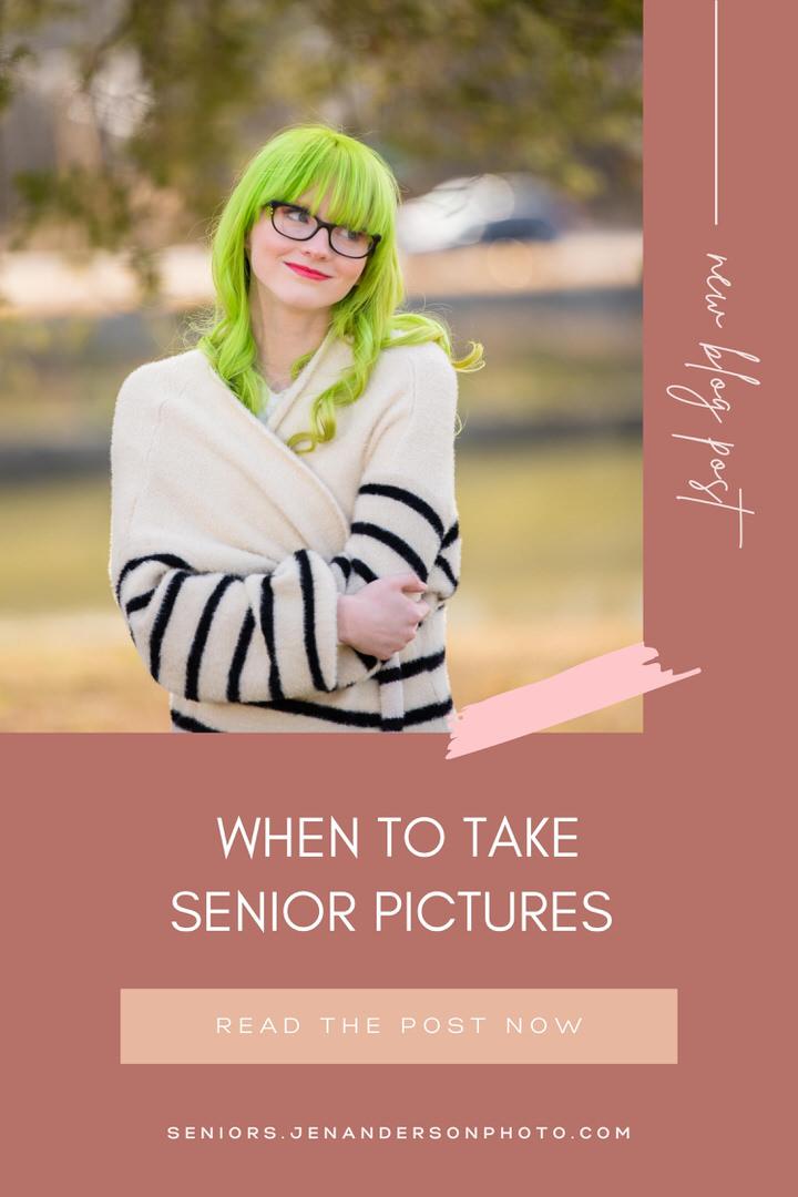 when to take senior pictures